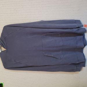 Colsie Sweatshirt Dress Large Blue Hooded